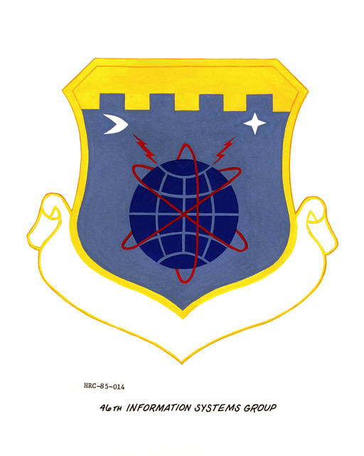 Approved unit emblem for: 46th Information Systems Group