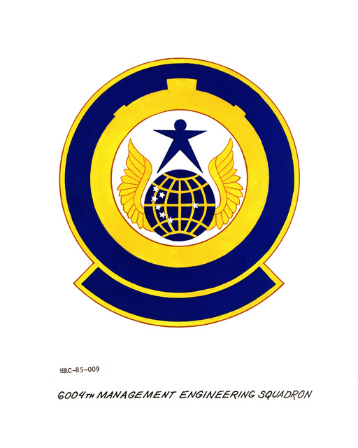 Approved unit emblem for: 6004th Management Engineering Squadron