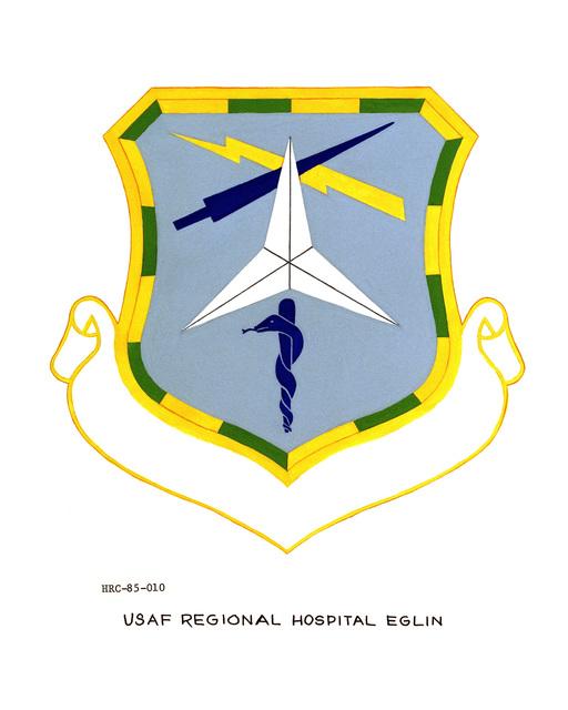 Approved unit emblem for: USAF Regional Hospital, Eglin