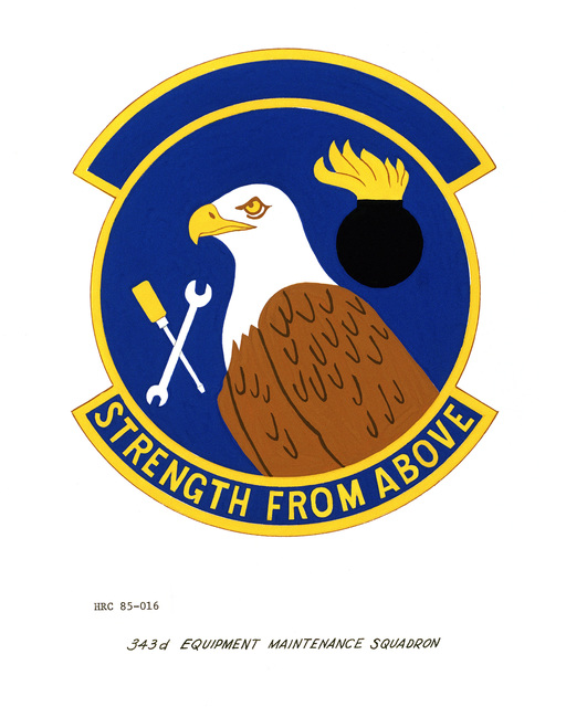 Approved unit emblem for: 343rd Equipment Maintenance Squadron