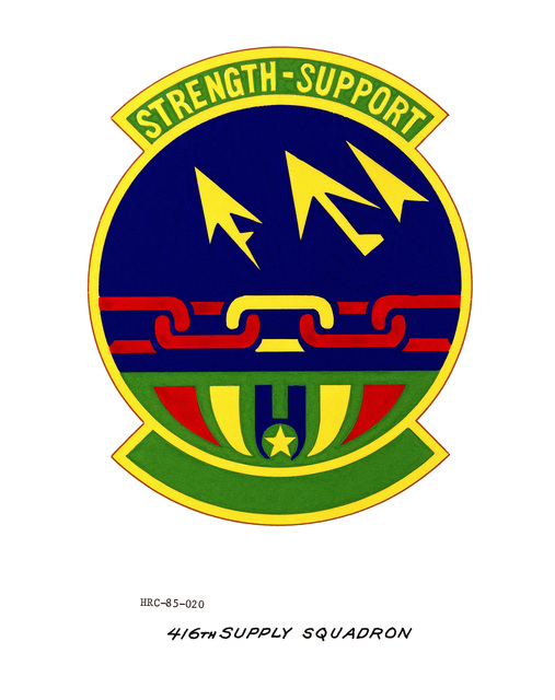 Approved unit emblem for: 416th Supply Squadron