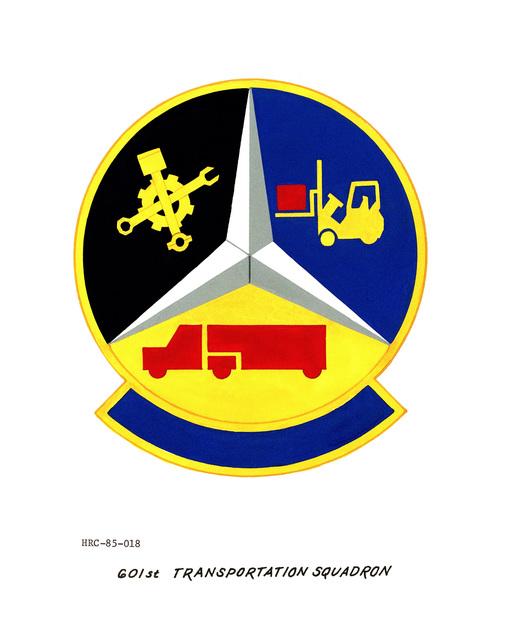 Approved unit emblem for: 601st Transportation Squadron