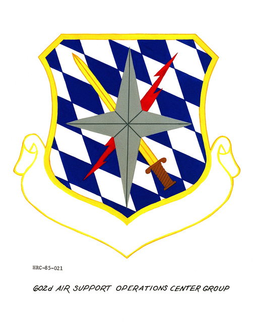 Approved unit emblem for: 602nd Air Support Operations Center Group