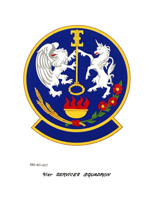 Approved unit emblem for: 91st Services Squadron