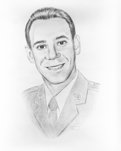 Artwork: Portrait of Sergeant Cecil Overmyer, 308th Missile Maintenance Squadron, Little Rock Air Force Base, Arkansas, selected as one of 1984's Outstanding Airmen. Artist: MASTER Sergeant Larrie Jenkins, US Air Force