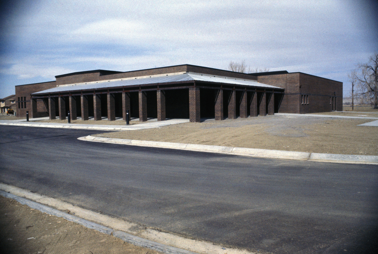 A newly constructed base exchange, commissary and recreation center complex at the Strategic Air Command's Strategic Training Range