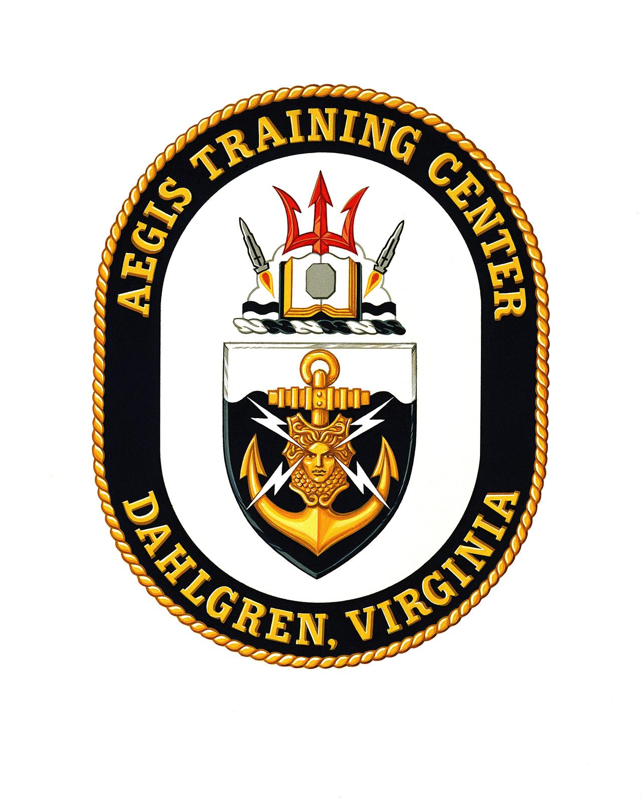 Coat of arms for: Aegis Training Center, Dahlgren, Virginia