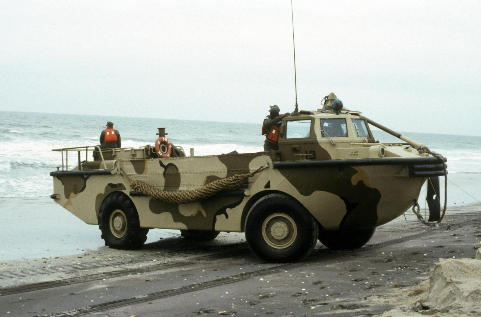 A LARC 5 (Light Amphibious Resupply Cargo) light amphibious cargo