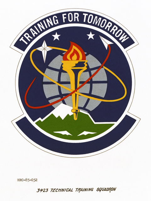 Approved unit emblem for: 3423rd Technical Training Squadron, Air Training Command