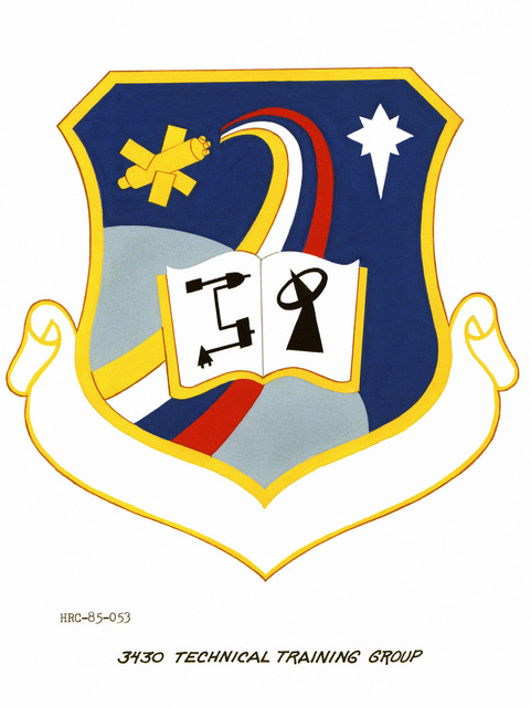 Approved unit emblem for: 3430th Technical Training Group, Air Training Command