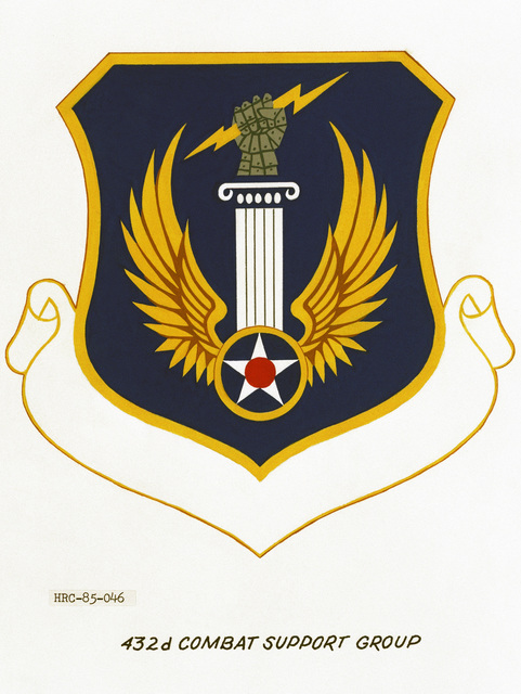 Approved unit emblem for: 432nd Combat Support Group, Pacific Air Forces