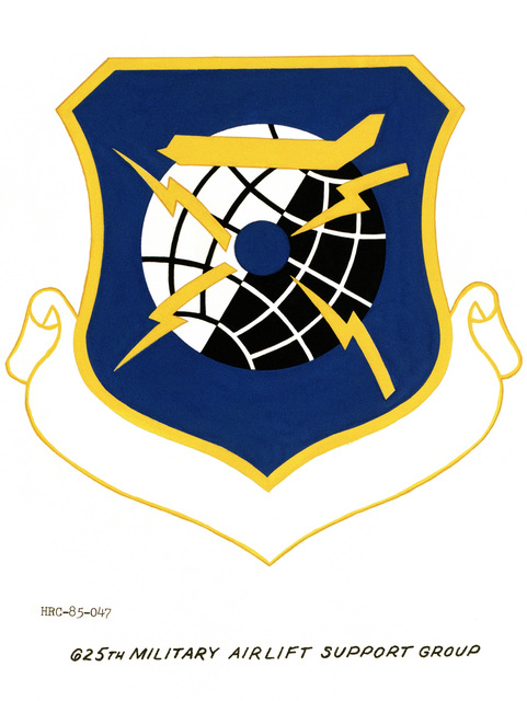 Approved unit emblem for: 625th Military Airlift Support Group, Military Command