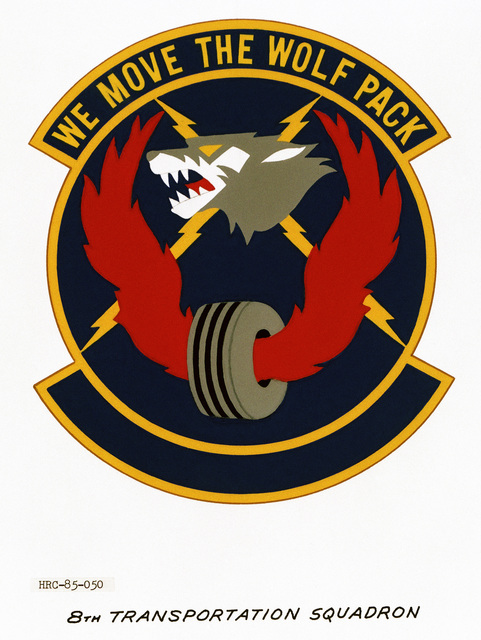 Approved unit emblem for: 8th Transportation Squadron, Pacific Air Forces