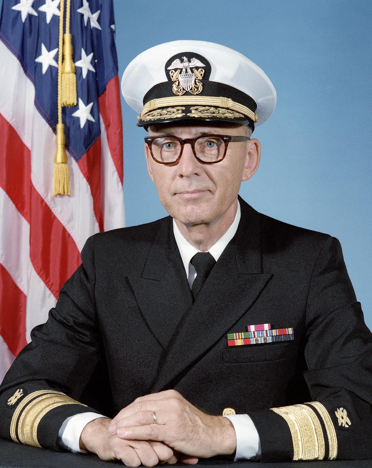 Rear Admiral (RADM) (upper half) Charles R. Smith, USN (covered)