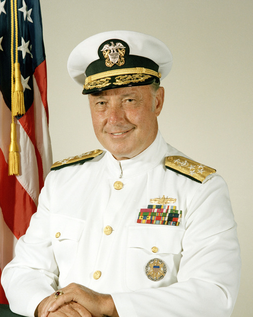 Admiral James A. Lyons, USN (covered)