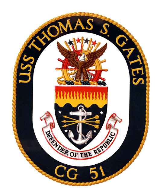 Coat of arms for the USS THOMAS S. GATES (CG 51)