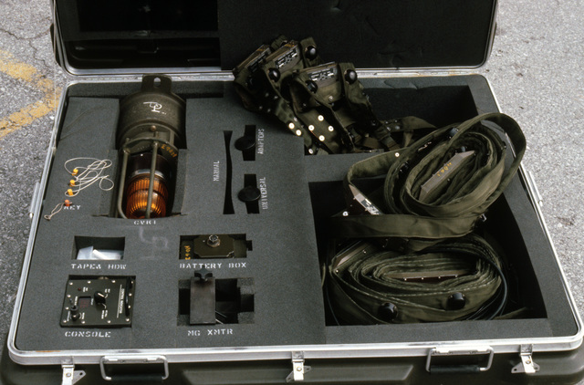 Multiple integrated laser engagement system (MILES) components in a protective case