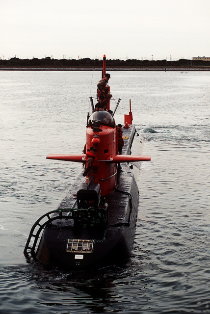 A bow view of the nuclear-powered research submersible NR-1