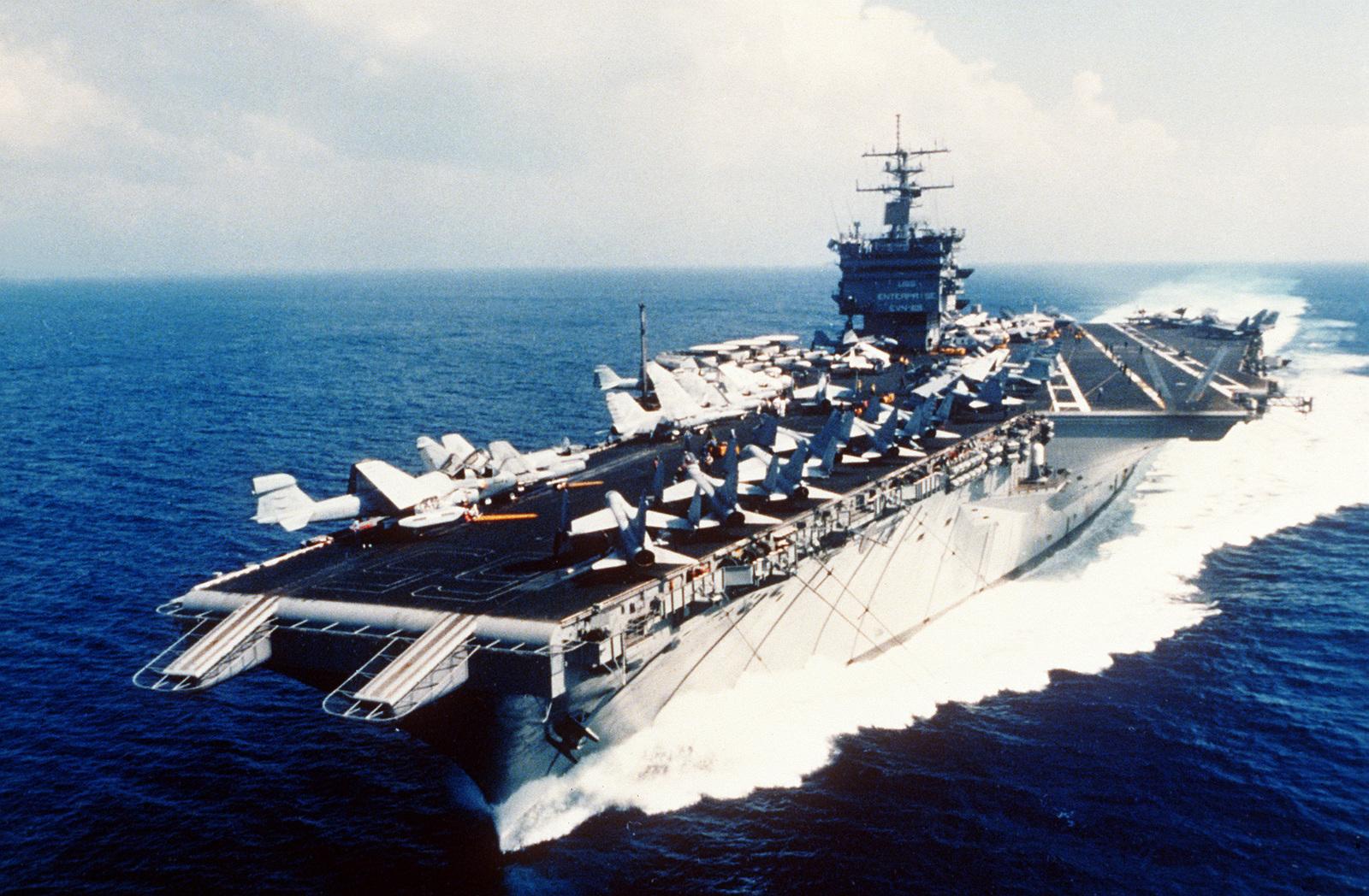 учебная атака на авианосец энтерпрайз видео