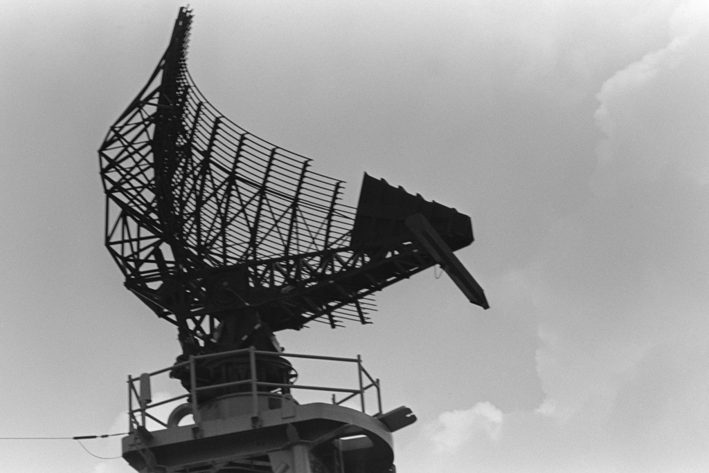 The Sps 49 Air Search Radar Antenna On The Guided Missile