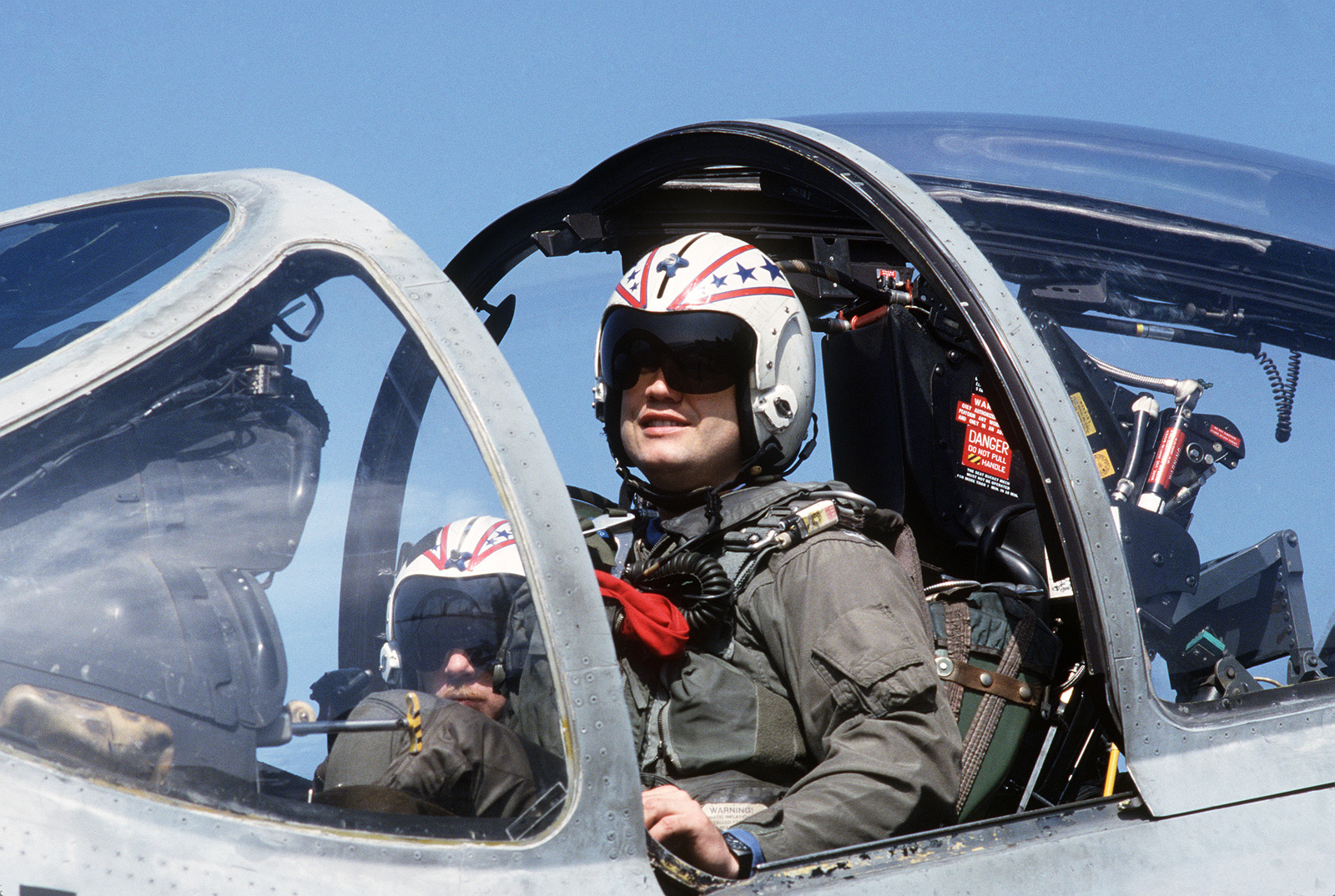 The pilot and navigator/bombardier of an A-6E Intruder ...