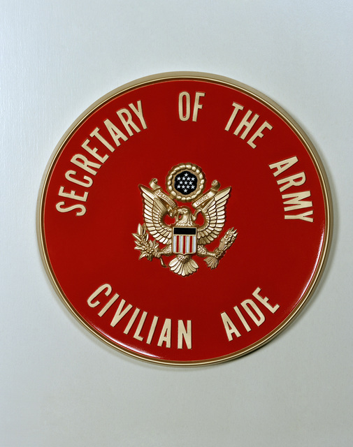 Plaque for civilian aides to the Secretary of the Army