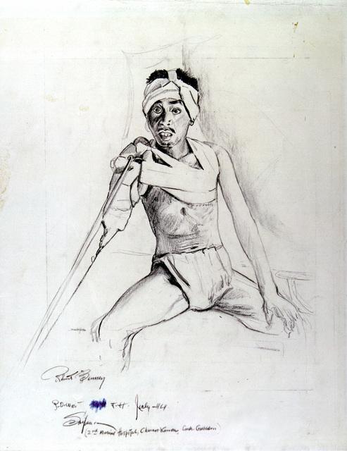 "Artwork: ""POW Amputee,"" Saipan, July 1944- Artist: Robert Benney"