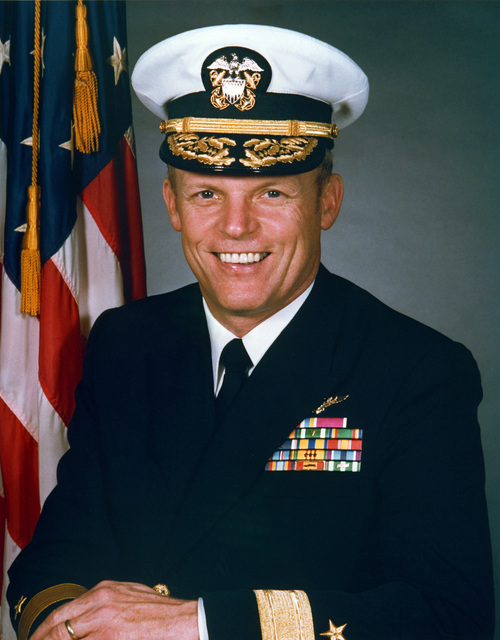 Rear Admiral (RDML) (lower half) Anthony Albert Less, USN (covered)