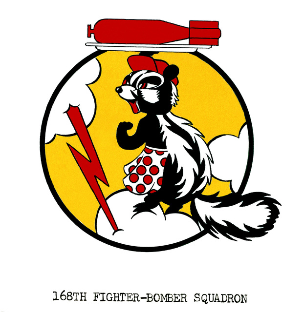 Approved insignia for:  168th Fighter-Bomber Squadron