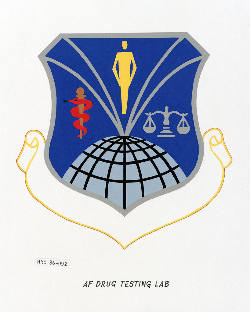 Approved insignia for: Air Force Drug Testing Laboratory