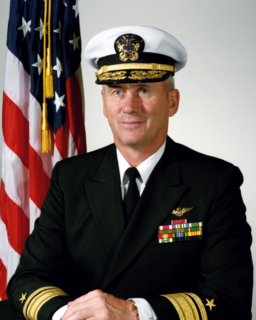 Portrait: US Navy (USN) Rear Admiral (RADM) (upper half) John C. Weaver (covered)