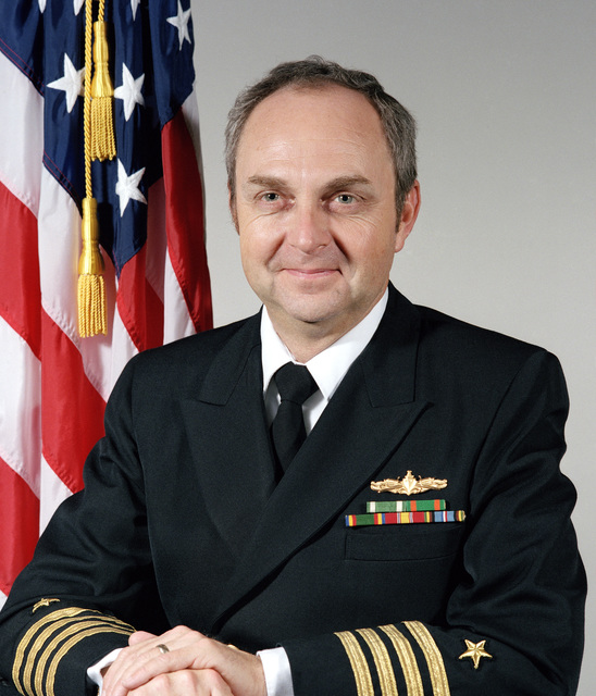 Portrait: US Navy (USN) Captain (CAPT) John Mitchell (uncovered)