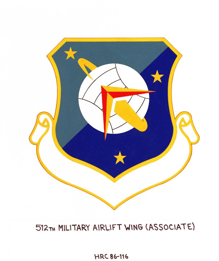 Approved insignia for:  512th Military Airlift Wing (Associate) (AFRES)