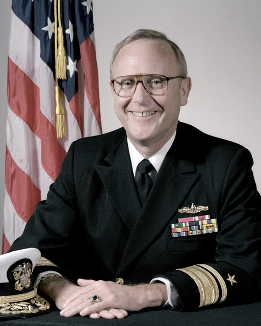 Portrait:  US Navy (USN) Rear Admiral (RADM) (upper half) John F. Shaw (uncovered)