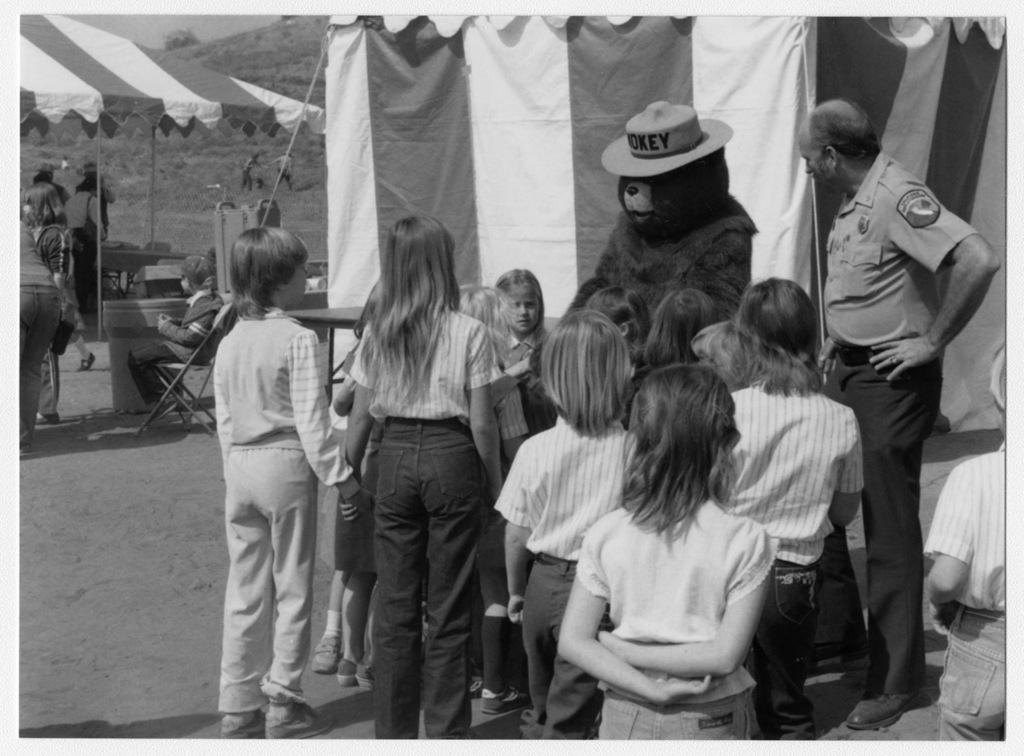 Wild Animal Park, Arbor Day, Smokey Bear and Jim Van Meter of California Department of Fires with Kids
