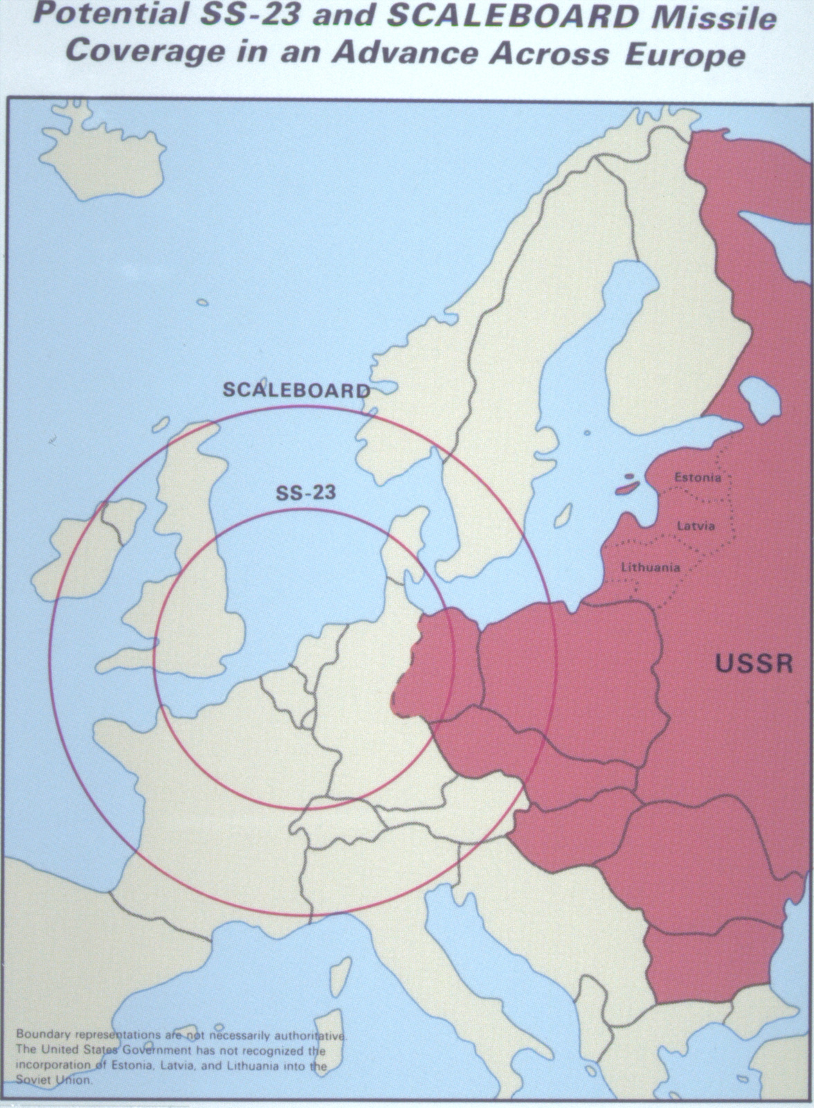 A map depicting potential Soviet SS-23 and Scaleboard ...