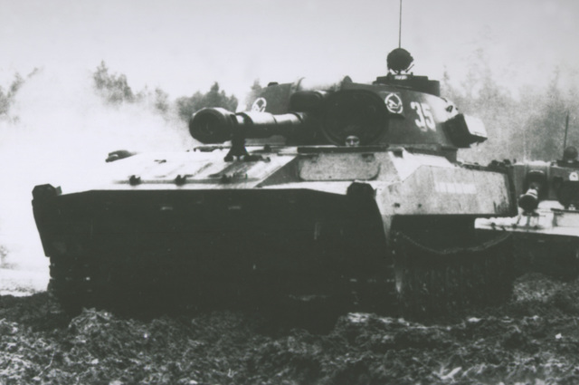 A Soviet 2S1 122mm self-propelled howitzer