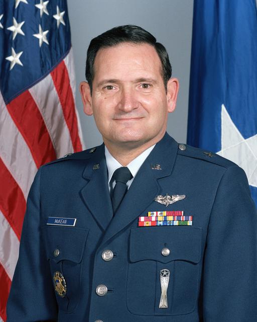 Portrait:  US Air Force (USAF) Brigadier General (BGEN) Joel M. McKean (uncovered)