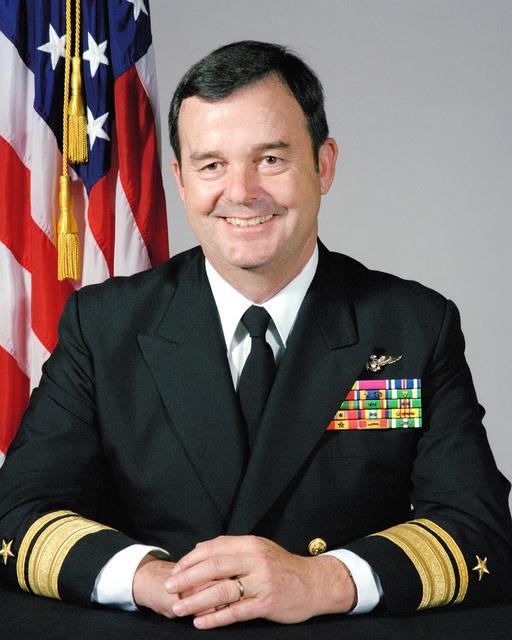 Portrait:  US Navy (USN) Rear Admiral (RADM) (upper half) Edwin R. Kohn (uncovered)