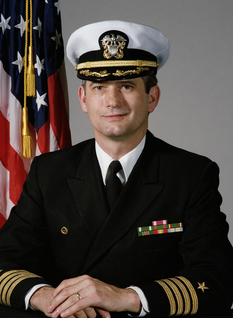 Portrait:  US Navy (USN) Captain (CAPT) Jonathan D. Mustian (covered)