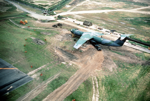 Aerial view of the recovery site of a 63rd Military ... |Norton Afb Aerial