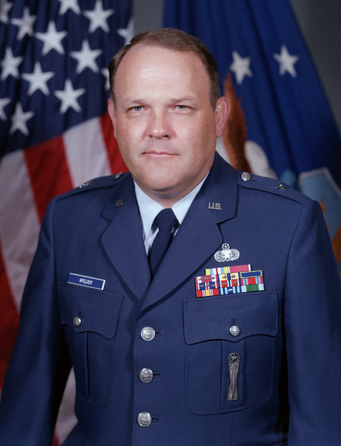 Portrait: US Air Force (USAF) Brigadier General (BGEN) Stephen M. McElroy (uncovered)