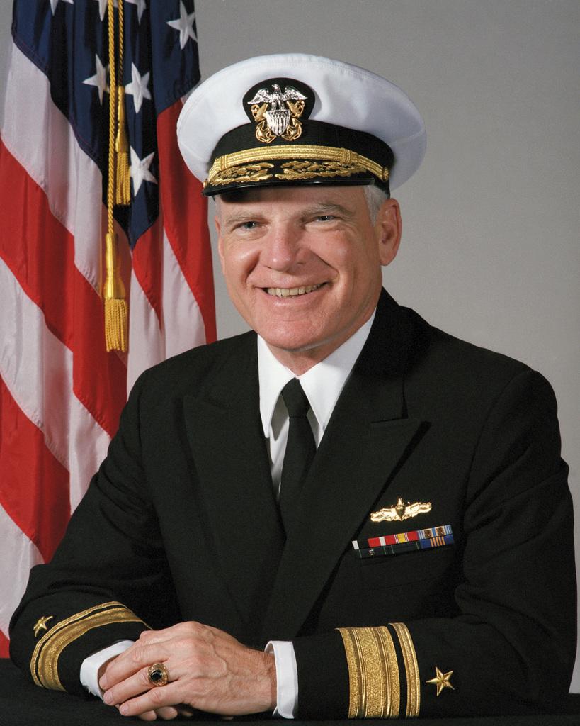 Portrait: US Navy (USN) Rear Admiral (RADM) (upper half) F. Neale Smith (covered)