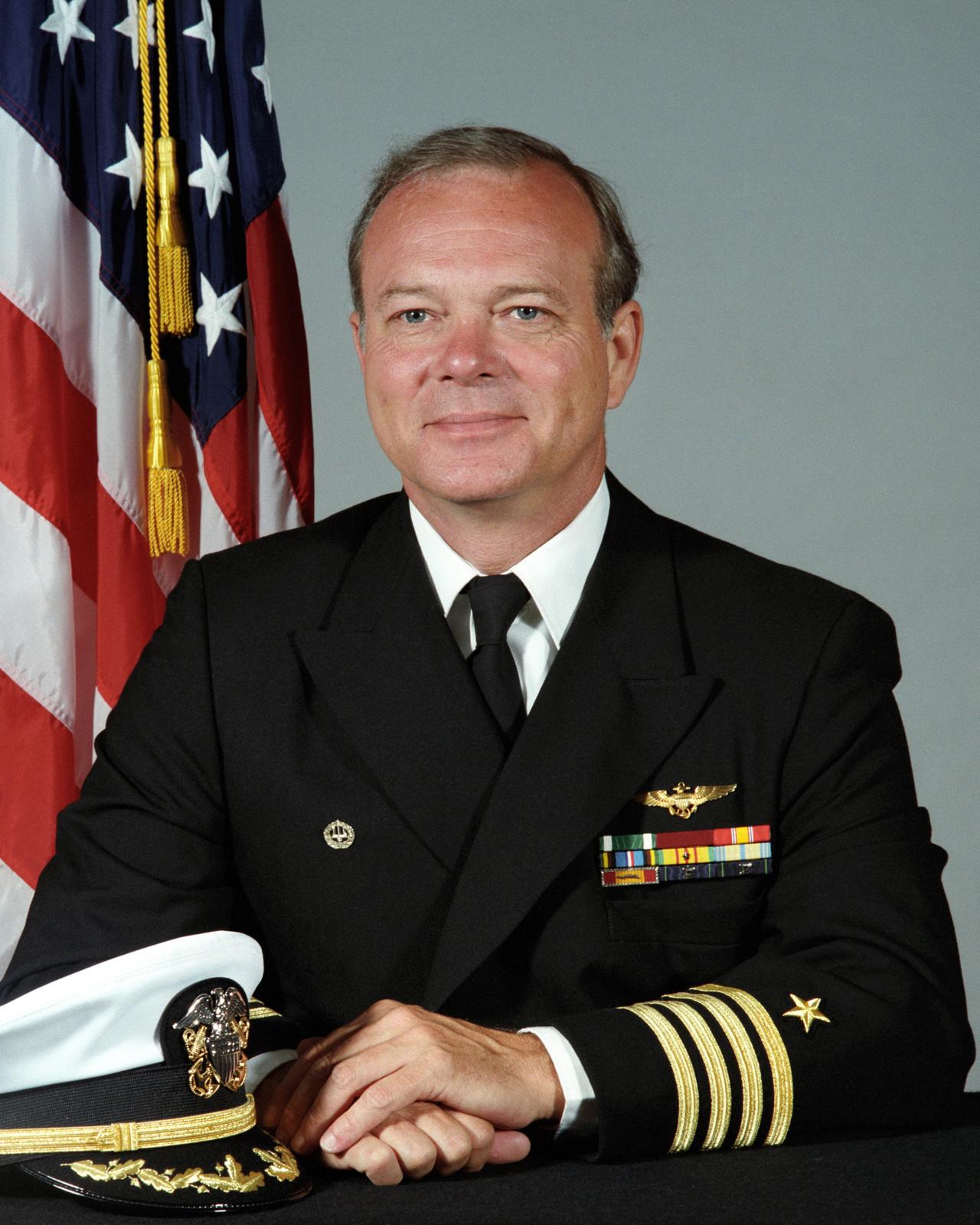 Portrait:  US Navy (USN) Captain (CAPT) James L. Crum (uncovered)