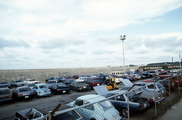 A view of the privately owned vehicle (POV) compound of the Military Traffic Management Command, Transportation Terminal Unit - Spain