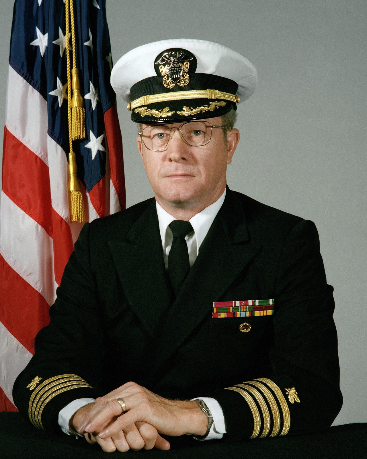 Portrait:  US Navy (USN) Captain (CAPT) Edmund J. Bednar (covered)