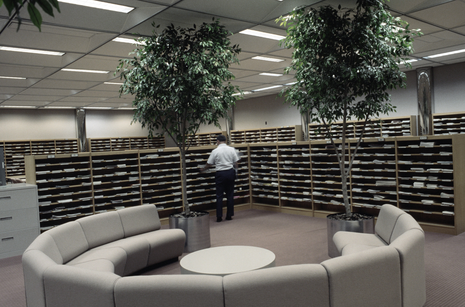 A view of the publications file/periodical library in Fairchild Library, Air University.  The university offers formal training in many areas of military studies to officers and senior non-commissioned officers in the Air Force