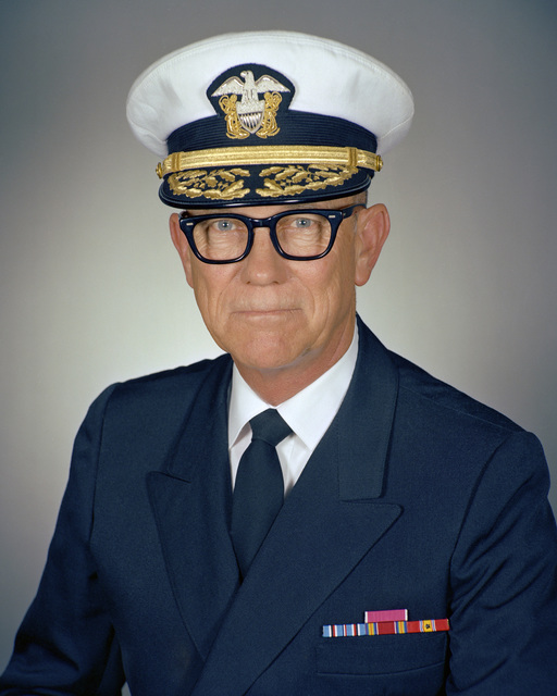 Portrait: US Navy (USN) Rear Admiral (RADM) (upper half) Norman V. Cooley Jr. (covered)