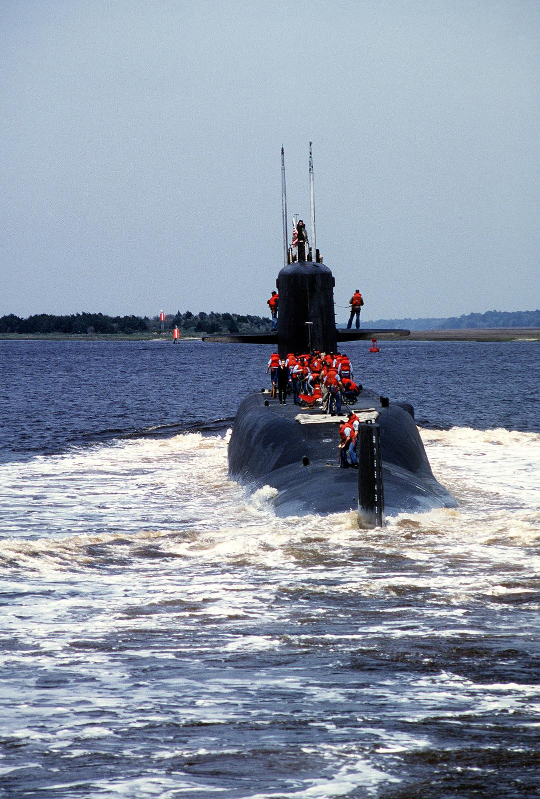 The fleet ballistic missile submarine USS MARIANO G  VALLEJO
