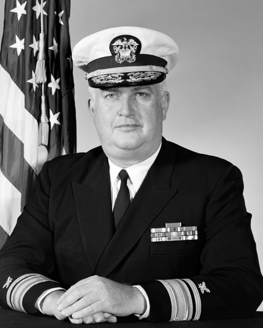 Portrait: US Navy (USN) Rear Admiral (RADM) (upper half) James B. Whittaker (covered)